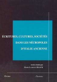 Écritures, cultures, sociétés dans les nécropoles d'Italie ancienne