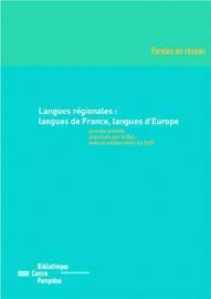 Langues régionales : langues de France, langues d'Europe