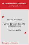 Qu'est-ce qu'un système philosophique?