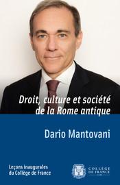 Droit, culture et société de la Rome antique