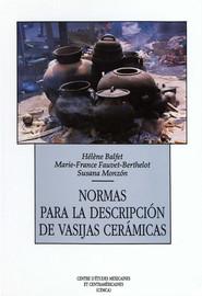 Normas para la descripción de vasijas cerámicas