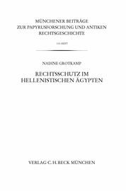 Rechtsschutz im hellenistischen Ägypten