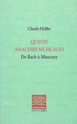Quinze analyses musicales