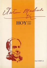 Recuerdos de mi relación personal con Antonio Machado (1932-1936)