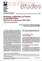 Pratiques culturelles en France et aux États-Unis