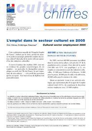 L'emploi dans le secteur culturel en 2005