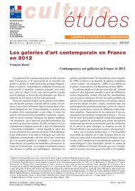 Les galeries d'art contemporain en France en 2012