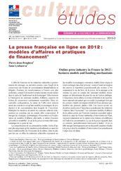 La presse française en ligne en 2012