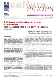Politiques d'éducation artistique et culturelle: rôle et action des collectivités locales