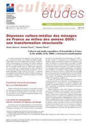 Dépenses culture-médias des ménages en France au milieu des années 2000 : une transformation structurelle