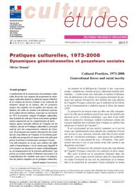 Pratiques culturelles, 1973-2008