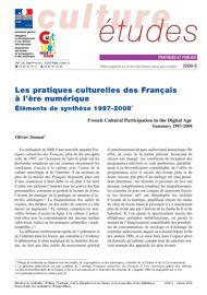 Les pratiques culturelles des Français à l'ère numérique