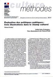 Évaluation des politiques publiques: trois illustrations dans le champ culturel