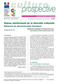 Enjeux intellectuels de la diversité culturelle_Éléments de déconstruction théorique