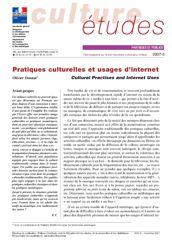 Pratiques culturelles et usages d'internet
