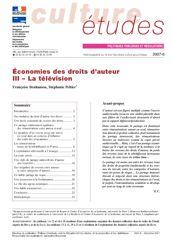 Economies des droits d'auteur - III