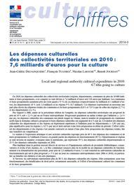 Les dépenses culturelles des collectivités territoriales en 2010: 7,6 milliards d'euros pour la culture