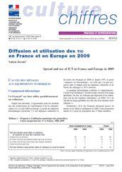 Diffusion et utilisation des TIC en France et en Europe en 2009
