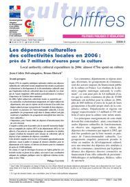 Les dépenses culturelles des collectivités locales en 2006
