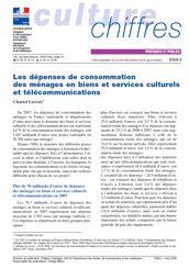 Les dépenses de consommation des ménages en biens et services culturels et télécommunications