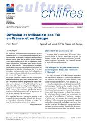 Diffusion et utilisation des TIC en France et en Europe
