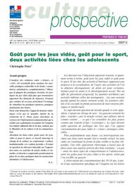 Goût pour les jeux vidéo, goût pour le sport, deux activités liées chez les adolescents