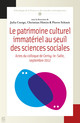 Patrimoine culturel immatériel: paradigmes économiques, débats et perspectives