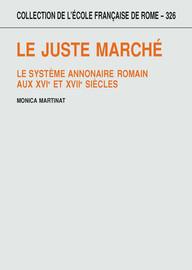 Chapitre I. La morale, le droit et la gestion de l'Annone