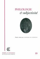Philologie et subjectivité