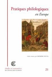 Pratiques philologiques en Europe