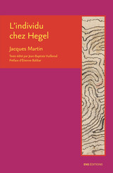 L'individu chez Hegel