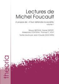 Lectures de Michel Foucault. Volume 1