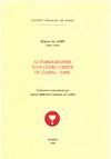 Autobiographie d'un clerc chiite du Ǧabal 'Āmil