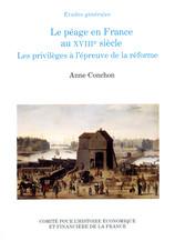 Le financement des infrastructures de transport XVIIe-début XIXe siècle