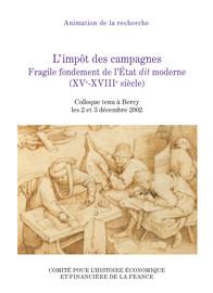 L'État moderne et l'impôt des campagnes: rapport introductif