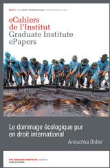 Le dommage écologique pur en droit international