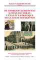La séparation des églises et de l'État dans la France septentrionale: un bilan historiographique