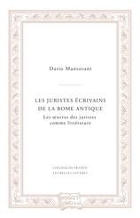 Les juristes écrivains de la Rome antique