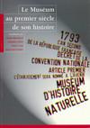 Le Muséum au premier siècle de son histoire