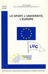Le sport, l'université, l'Europe