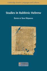 Studies in Rabbinic Hebrew
