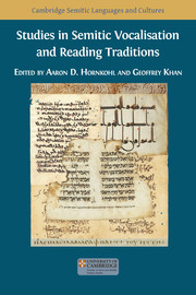 Studies in Semitic Vocalisation and Reading Traditions