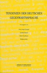 Tendenzen der deutschen Gegenwartssprache