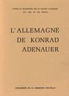 L'Allemagne de Konrad Adenauer