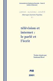 Télévision et Internet : le parlé et l'écrit