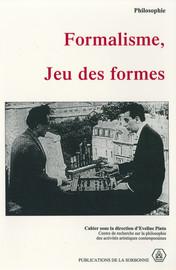 Note sur le formalisme et ses origines kantiennes