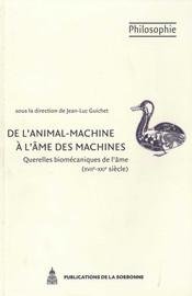 De l'animal-machine à l'âme des machines