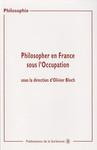 Philosopher en France sous l'Occupation