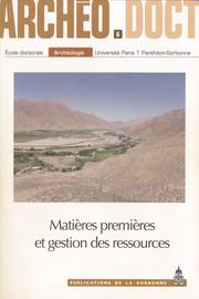 Matières premières et gestion des ressources