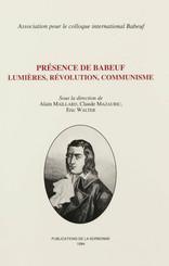 Présence de Babeuf. Lumières, révolution, communisme